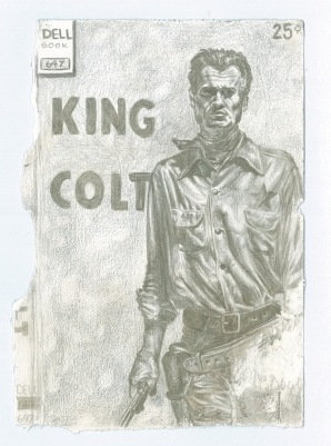 "SOLD "" King Colt"" - Silverpoint on Paper 2.5x5 c.2015"