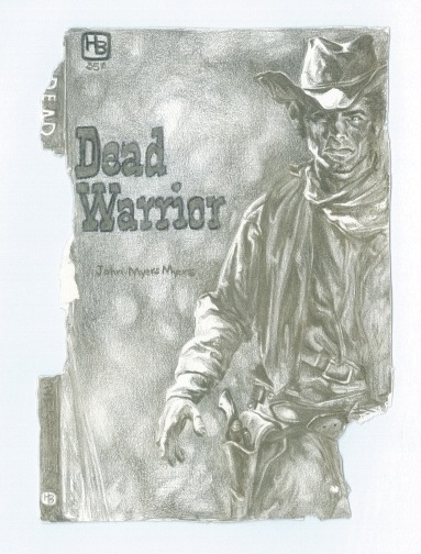 """SOLD """"dead warrior"""" - Silverpoint on paper 2x5 c. 2015"""