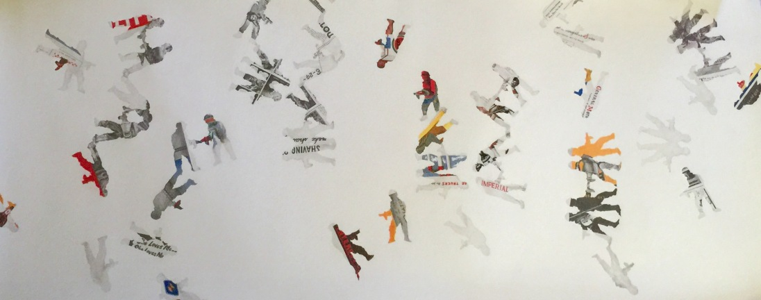 """""""Paper. Soldier. Play"""" graphite on paper, 34x72. 2014. (email for purchase inquiries)"""